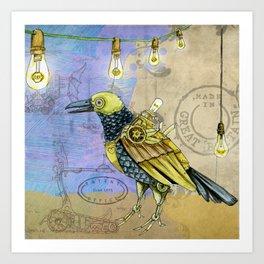 Grunge Wings Art Print