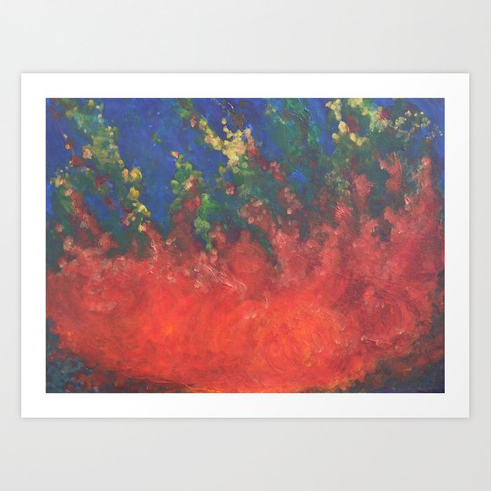 Fire Drops Art Print