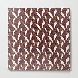 Kereru and magnolia - chocolate  Metal Print