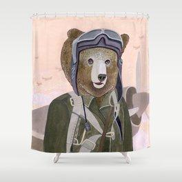 Aviator Bear Shower Curtain