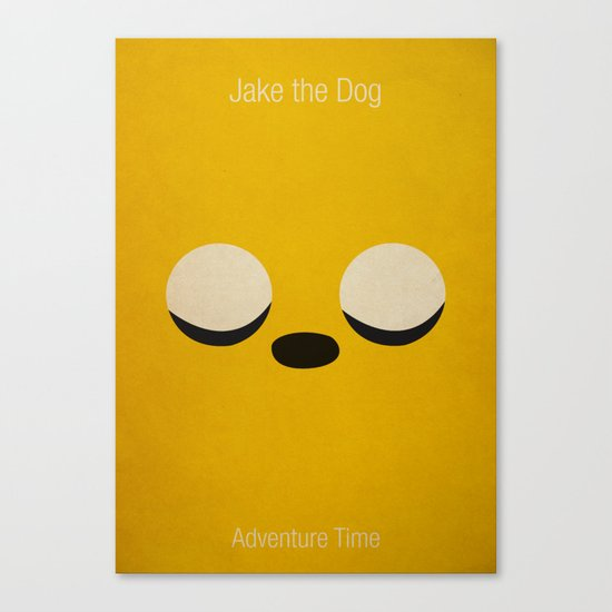 Minimalist Adventure Time Jake Canvas Print