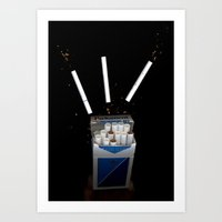 cigarettes Art Prints featuring Cigarettes by Courtney Decker