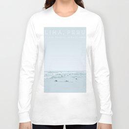 Lima, Peru, Playa Waikiki, Miraflores Travel Poster Long Sleeve T-shirt