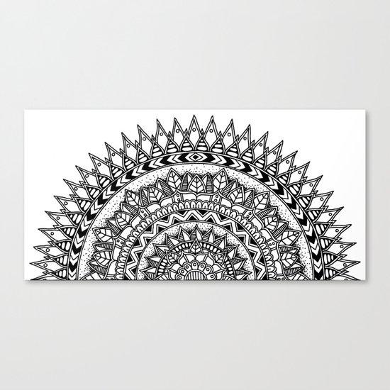 Half Moon Mandala Canvas Print By Elfinelines Society6