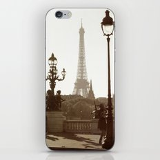 Eiffel Tower and lamp posts iPhone & iPod Skin
