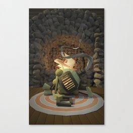Cig-bot fireplace Canvas Print