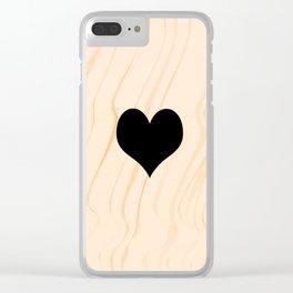 Scrabble Heart - Scrabble Love Clear iPhone Case