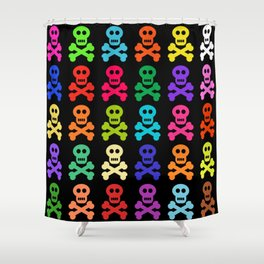Colorful Pirate Skulls Shower Curtain