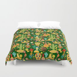 Fiesta Time! Mexican Icons Duvet Cover