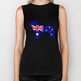 Australian Flag - Newfoundland Dog Biker Tank