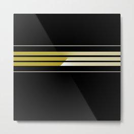 Team Colors 5..Gold.black,white Metal Print