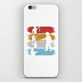 Fishing Angling Fishermen Fish Retro Vintage Gift iPhone Skin
