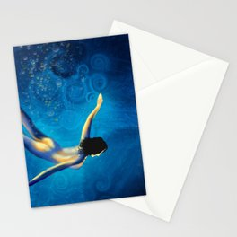 Swim Stationery Cards