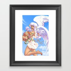 Angel Bloom Framed Art Print