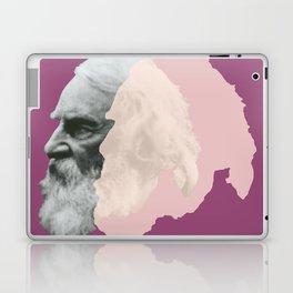 Henry Wadsworth Longfellow - portrait purple and white Laptop & iPad Skin