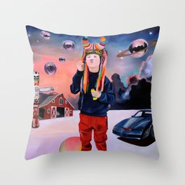 Knight of the Phoenix Throw Pillow