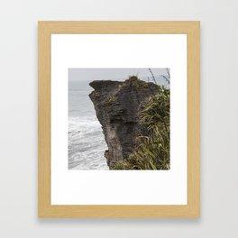 Pancake rocks New Zealand Framed Art Print