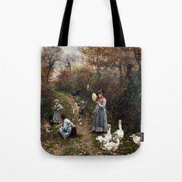 Marie François Firmin-Girard Shepherd Girl Tote Bag