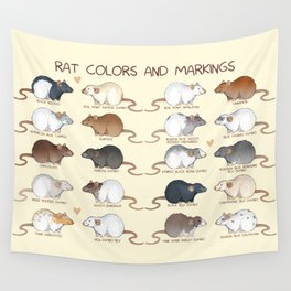 Rat colors and markings Wall Tapestry
