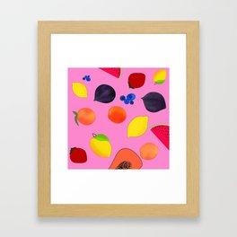 Fruity Fresh Framed Art Print