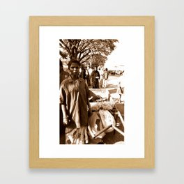 The cleaner woman - Streets of India Framed Art Print