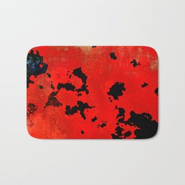 Red Modern Contemporary Abstract Textured Design Badematte