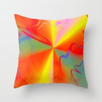 carnival Throw Pillows featuring Carnival by Awesome Palette