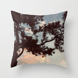 Pine Tree Sunset Southern Landscape Nature Photography  Throw Pillow