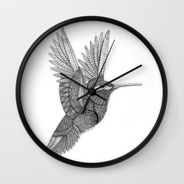 Hummingbird Zentangle Wall Clock