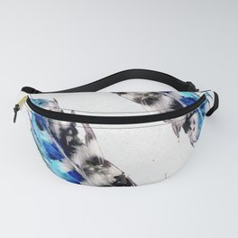 Two  blue feathers Fanny Pack