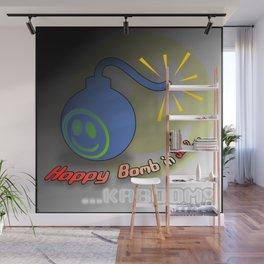 Happy Bomb Wall Mural