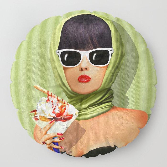Summer love, summer ... sun and ice cream Floor Pillow