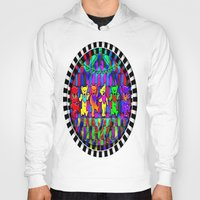grateful dead Hoodies featuring Grateful Dead Dancing Bears Colorful Psychedelic Characters #1 by CAP Artwork & Design