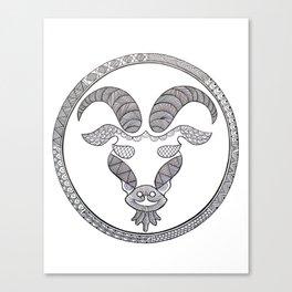 Zodiac Sign Capricorn Canvas Print