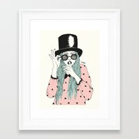 hat Framed Art Prints featuring  ''Hat'' by Indi Maverick