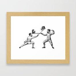 Selfless Nation - Fencers Framed Art Print