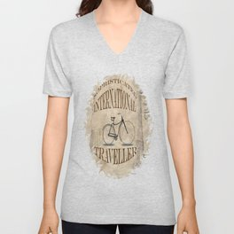Sophisticated International Traveller Unisex V-Neck