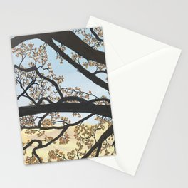 Peillon December Tree View Stationery Cards