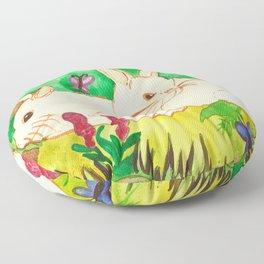 Garden Bunnies Floor Pillow
