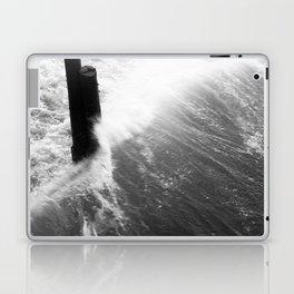 Churning Surf Amongst The Pier Laptop & iPad Skin