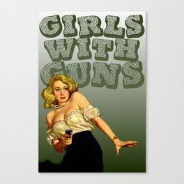 Girls with Guns Logo II Canvas Print