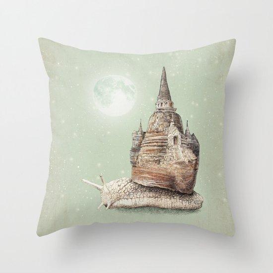 The Snail's Dream Throw Pillow
