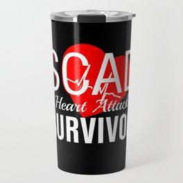 SCAD Survivor Heart Attack T-Shirt Women Warrior Travel Mug