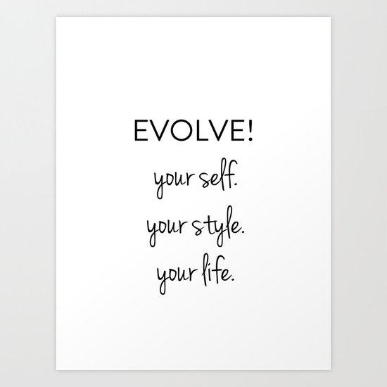 Evolve II Art Print