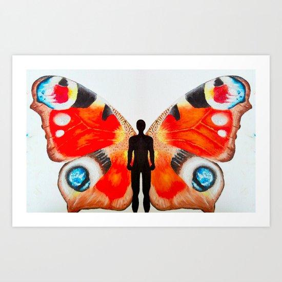 The Butterfly Man Art Print
