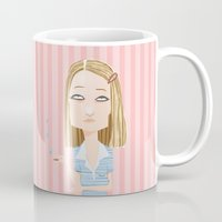 tenenbaums Mugs featuring Margot Tenenbaum The Royal Tenenbaums by suPmön