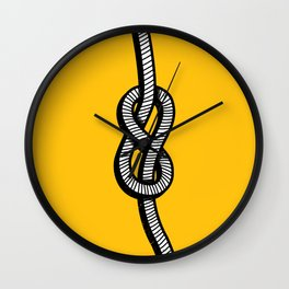Figure 8 knot Wall Clock