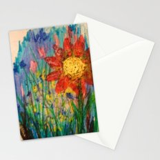 Crayon Love: If Van Gogh Had Crayons...??? -Sunny Flowers Stationery Cards