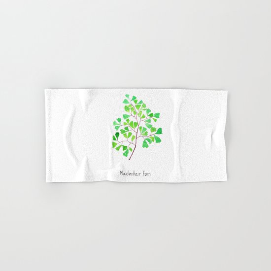 Maiden hair fern Hand & Bath Towel