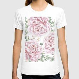 Pretty Pink Roses Flower Garden T-shirt